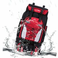 80L Outdoor Hiking Camping Backpack Bag Travel Mountaineering Trekking Day Pack