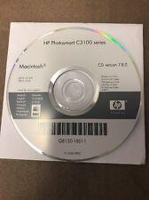 HP Photosmart C3100 series CD for Printer (ver 7.8.0) For MAC