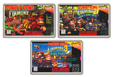 DONKEY KONG COUNTRY SNES 3 FRIDGE MAGNET IMANES NEVERA