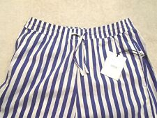 Onia Chloe Wide Pants Coastal Blue Stripe Beach Pants NWT Small $140
