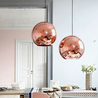 LED Copper Chandelier Ceiling Light Ball Glass Pendant Lamp Lighting Fixtures
