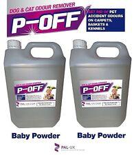 2 x 5L p-off animale domestico urina odore rimozione - Pipì FUMO faeces BISOGNI