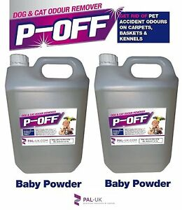 2x5L POFF Fragranced Kennel/Cattery Disinfectant Cleaner Deodoriser  Baby Powder
