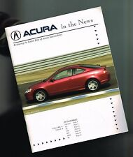2001 / 2002 / 2003 ACURA issued ROAD TEST Brochure: CL,TL,NSX,RSX,MDX,RL,Type S