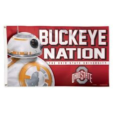 Ohio State Buckeyes Star Wars Bb-8 Buckeye Nation 3'X5' Deluxe Flag Wincraft