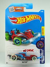 Hot Wheels 2016 #51 Wattzup RED+BLUE,1ST COLOR,GLOW IN THE DARK WHEELS,INTL