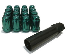 Alloy Wheel Nuts Green Tuner (16) 12x1.25 Bolts for Ford Maverick [Mk2] 93-96