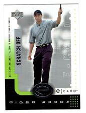 Tiger Woods 2001 Upper Deck e-Card #ETW  8 Card Lot
