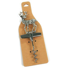 Stainless Steel Stag Handled Corkscrew