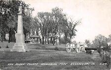 C18/ Keosauqua Iowa Ia Real Photo RPPC Postcard 1955 Van Buren Memorial Park