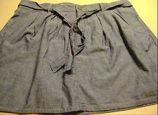 NWT WOMENS GAP 1969 CHAMBRAY SKIRT-SIZE 33/16-CHAMBRAY BLUE-