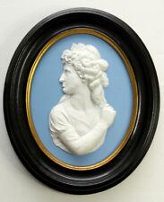 Very Early SARAH SIDDONS Antique WEDGWOOD Jasper Ware PORTRAIT MEDALLION Plaque
