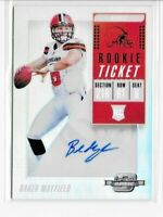2018 Panini Contenders Optic #101 Baker Mayfield BROWNS Rookie AUTO Autograph RC