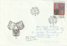 1993 Czech Republic FDC cover State Coat of Arms
