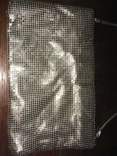 vintage Whiting & Davis Silver Metal Mesh Evening Hand Bag Purse with strap