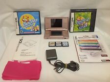 Nintendo DS Lite Launch Metallic Rose Console Bundle w/ Accessories/Games ++ 6D
