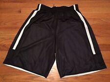 New Nike Men's Lg Team League Reversible Shorts Basketball Training Black White