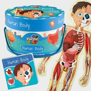 Human Body Theme 50+ Jigsaw Puzzle With 1 Story Book For Children Of 3+ Years