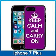 Purple Keep Calm and Carry On For Iphone 7 Plus & Iphone 8 Plus (5.5) Case