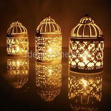 Retro Metal Birdcage Design Lantern Candle Tea Light Holder Outdoor Decor
