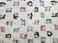 "Cute As a Button ""Eggshell sewing machine"" - Tissu, Coton, Coudre, machine à coudre"