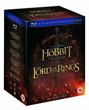 LORD OF THE RINGS HOBBIT TRILOGY EXTENDED EDIITION VERSION 6 MOVIE FILM Blu ray