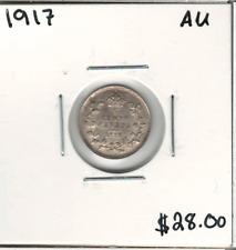 Canada 1917 Silver 5 Cents AU