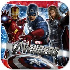 The Avengers Lunch Luncheon Dinner Birthday Plates 8 Count Party Supplies NEW
