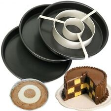 Cake Mold 4 Pcs Set Non-Stick Round Baking Pan Tin Divider Chess Grids Bakeware