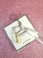 CHANEL No.5 Parfum Perfume Bottle Charms Mobile VIP Gift w/ Velvet Pouch