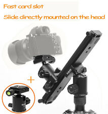 Selens DSLR Camera DV Track Dolly Rail Slider Video Camcorder + Ball Head
