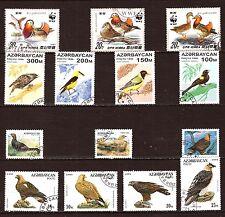 AZERBADJAN & COREE Oiseaux communs, rapaces, palmipedes 1M-D136