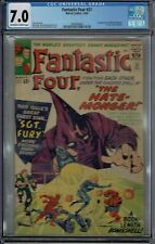 CGC 7.0 FANTASTIC FOUR #21 1ST APPEARANCE OF THE HATE-MONGER OW/WHITE PAGES