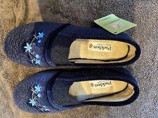 Padders blue slippers, memory foam, size 6