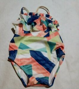 NWT Gymboree Cabana Baby Geo Print Swim Bathing Suit Swimsuit 1PC Baby Girl