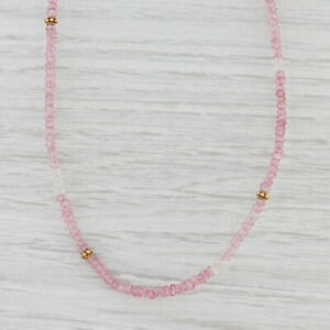 New Nina Nguyen Harmony Necklace Pink Topaz Bead Gold Vermeil Sterling Long