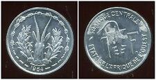 ETATS DE L'AFRIQUE DE L'OUEST  1 franc  1964  ( 1 )  ( bis )