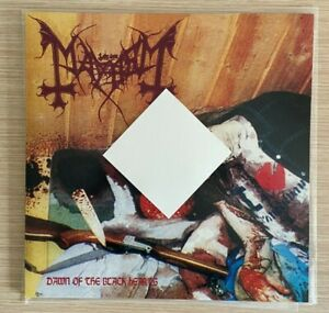 MAYHEM - DAWN OF THE BLACK HEARTS - LP - RED SPLATTER VIYNL - NEW - SATYRICON