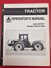 Agcostar Models 8360 & 8425 Tractor Operator's Manual