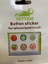 NEW 6 Pack of Assorted Jelly Gel Home Button Sticker For iPhone iPod Touch iPad