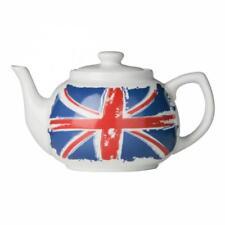 Premier Housewares Cool Britannia Teapot Porcelain 1.2L Ceramic Union Jack Serve
