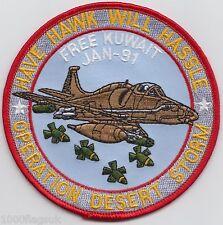 Operation Desert Storm War Hawk Jet Free Kuwait 1991 Embroidered Badge Patch