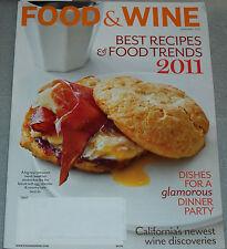 Food & Wine Magazine January 2011 Best Recipes & Food Trends 2011