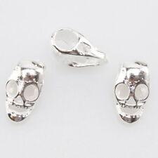 20x 151632 Wholesale Silver Skull European Beads Fit Charms Bracelets