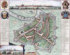 Reproduction plan ancien de Termonde (Dendermonde) 1649