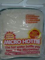 New Microwave Hottie Hot Water Bottle Lambswool Fleece Cover