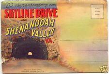 Skyline Dr & SHENANDOAH Valley VIRGINIA ~ LINEN Folder