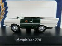 "BoS 87511 Amphicar 770 (1961-1968) ""POLIZEI"" in tannengrün/weiß 1:87/H0 NEU/OVP"