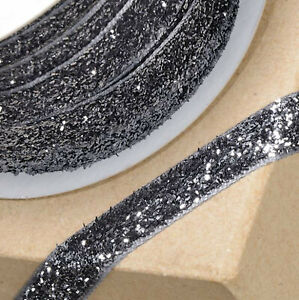 BLACK VELVET GLITZY RIBBON 10mm x 10 METERS REEL CRAFT CHRISTMAS CAKE GIFT WRAP
