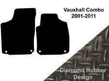 Vauxhall Combo (2001 to 2011) Fully Tailored Black 3mm Rubber Van Floor Mats